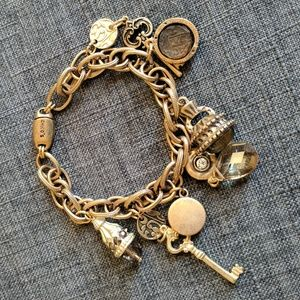 Chico's Charm Bracelet with Crystals